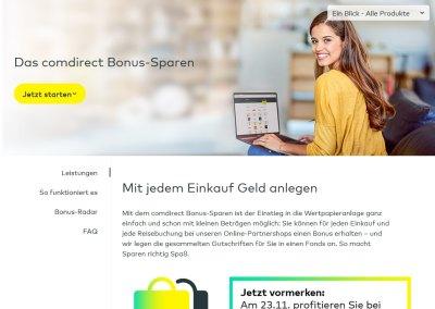 Bonus Sparen Comdirect