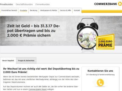 Commerzbank Depotwechsel Prämie