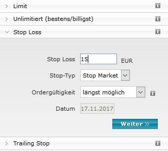 Stop Loss Order Beispiel Erklarung Und Strategie