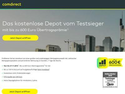 Comdirect Depotübertrag