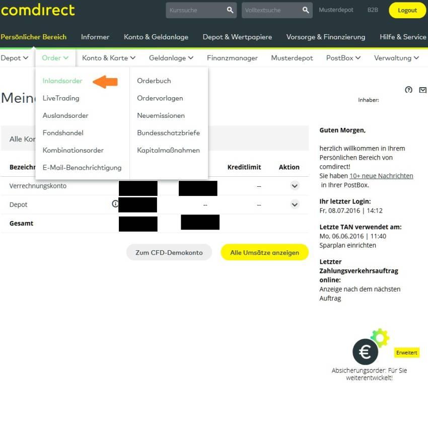 Comdirect Erfahrungen Depot